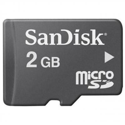 کارت حافظه میکرو اس دی سن دیسک ظرفیت 2 گیگابایت (مشکی)