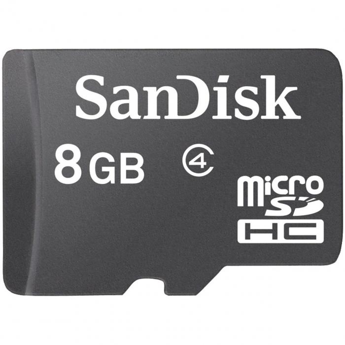 کارت حافظه microSDHC سن دیسک کلاس 4 ظرفیت 8 گیگابایت (مشکی)