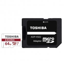کارت حافظه MicroSDHC توشیبا مدل Exceria M302 کلاس 10 استاندارد UHS-I U3 ظرفیت 64 گیگابایت