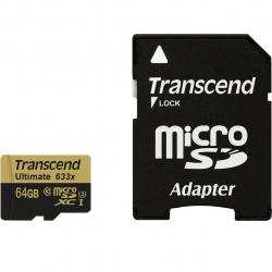 کارت حافظه microSDXC ترنسند مدل Ultimate کلاس 10 استاندارد UHS-I U3 ظرفیت 64 گیگابایت