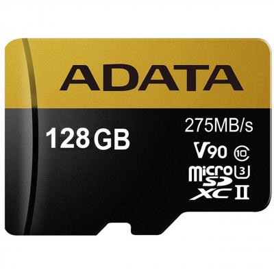 کارت حافظه microSDXC ای دیتا مدل Premier ONE V90 کلاس 10 استاندارد UHS-II U3 ظرفیت 128 گیگابایت
