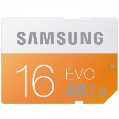 کارت حافظه SDHC سامسونگ مدل Evo کلاس 10 استاندارد UHS-I U1 سرعت 48MBps ظرفیت 16 گیگابایت