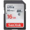 کارت حافظه SDHC سن دیسک مدل Ultra کلاس 10 استاندارد UHS-I U1 سرعت 533X 80MBps ظرفیت 16 گیگابایت