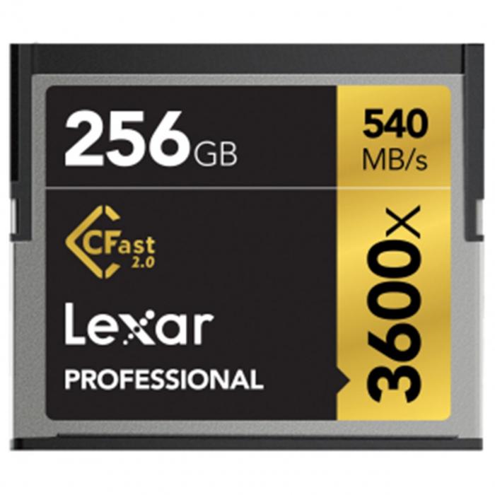 کارت حافظه CF لکسار مدل Professional CFast 2.0 سرعت 3600X 540MBps ظرفیت 256 گیگابایت