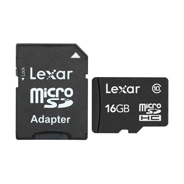 کارت حافظه microSDHC لکسار کلاس 10 همراه با آداپتور SD ظرفیت 16 گیگابایت