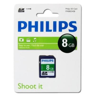 کارت حافظه SD فیلیپس مدل FM08SD45B کلاس 10 ظرفیت 8 گیگابایت
