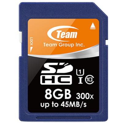 کارت حافظه SDHC تیم گروپ کلاس 10 استاندارد UHS-I U1 سرعت 300X 45MBps ظرفیت 8 گیگابایت