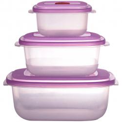 ظرف نگهدارنده مواد غذایی مدل C2-460 بسته سه عددی