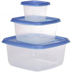 ظرف نگهدارنده مواد غذایی مدل C6-130 بسته سه عددی (سفید)