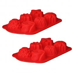 قالب شیرینی رجینال مدل Flower-3 سایز 28 بسته 2 عددی (آبی)