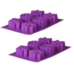 قالب شیرینی رجینال مدل Flower-2 سایز 28 بسته 2 عددی (آبی)