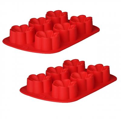 قالب شیرینی رجینال مدل Flower سایز 26 بسته 2 عددی (قرمز)
