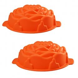 قالب شیرینی رجینال مدل Flower-5 سایز 19 بسته 2 عددی (نارنجی)