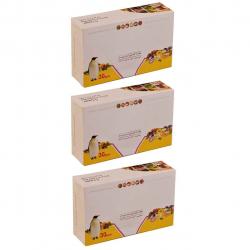 پاکت زیپ دار پنگوئن مدل 002 بسته 90 عددی (شفاف)
