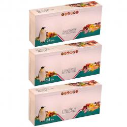پاکت زیپ دار پنگوئن مدل 001 بسته 72 عددی (شفاف)