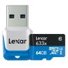 کارت حافظه microSDXC لکسار مدل High-Performance کلاس 10 استاندارد UHS-I U3 ظرفیت 64 گیگابایت