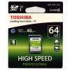 کارت حافظه SDXC توشیبا مدل High Speed Professional کلاس 10 استاندارد UHS-I U1 ظرفیت 64 گیگابایت