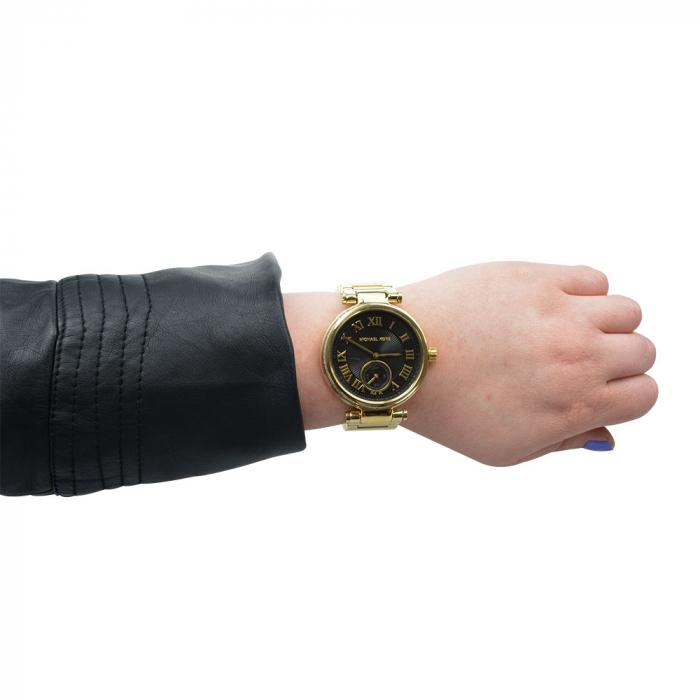 ساعت عقربه ای مایکل کورس مدل mk5989 (مشکی - طلایی)