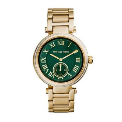 ساعت عقربه ای مایکل کورس مدل mk6065 (طلایی - سبز)
