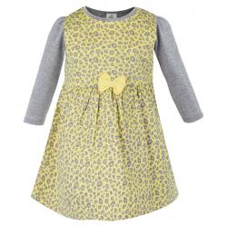 ست بلوز و پیراهن دخترانه TOFFY HOUSE (زرد) سایز (6-9 ماه)