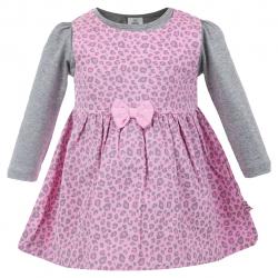 ست بلوز و پیراهن دخترانه مدل Pink (صورتی) سایز (9-12 ماه)