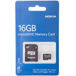 کارت حافظه microSDHC نوکیا مدل MU44 کلاس 4 به همراه آداپتور SD ظرفیت 16 گیگابایت