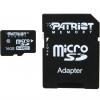 کارت حافظه microSDHC پتریوت مدل LX استاندارد UHS-I U1 کلاس 10 همراه با آداپتور SD ظرفیت 16 گیگابایت