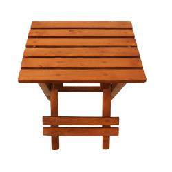 میز تاشو گیشا چوب مدل GSWOOD (قهوه ای تیره)