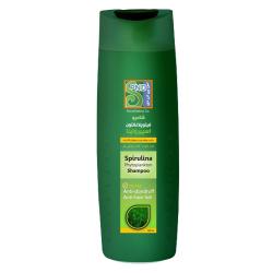 شامپو آنتی اکسیدان اسپیرولینا 300 میل برای موهای چرب و رنگ شده