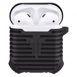 کاور محافظ سیلیکونی کوتتکی به همراه یک بند نگهدارنده مناسب برای کیس Apple AirPods
