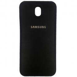 کاور ژله ای طرح چرم مدل مناسب برای گوشی موبایل سامسونگ Galaxy J730/J7 Pro