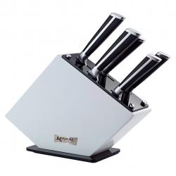 ست چاقوی آشپزخانه استیل 18/10 پایه دار کارال 6 پارچه مدل پروشات (استیل)