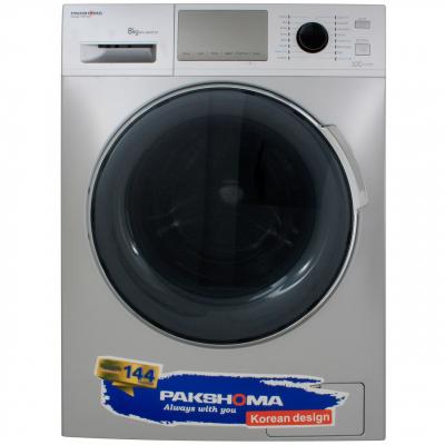 ماشین لباسشویی پاکشوما مدل WFI-80437  با ظرفیت 8 کیلوگرم (سفید)