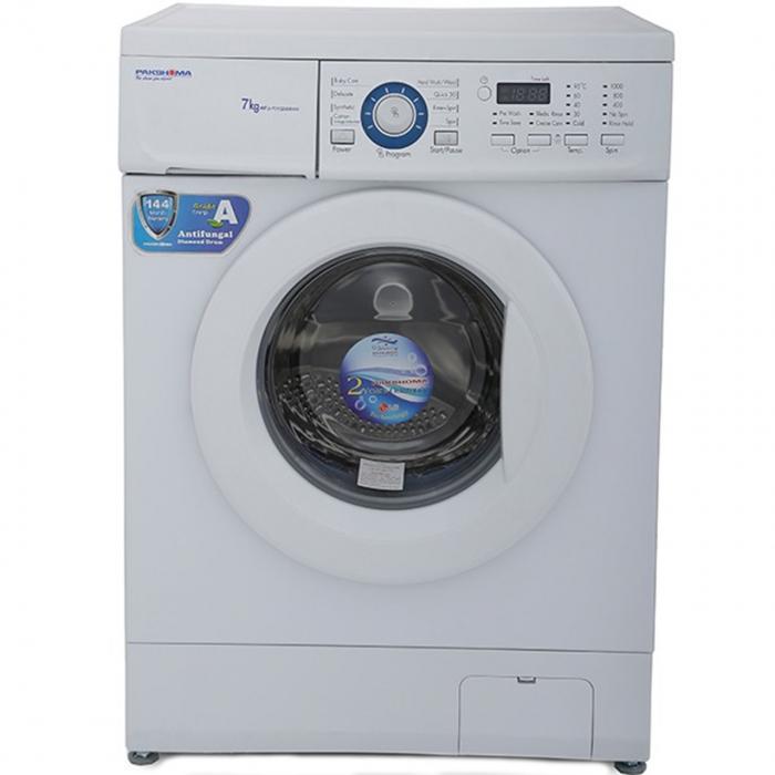 ماشین لباسشویی پاکشوما مدل WFU70102WANW با ظرفیت 7 کیلوگرم