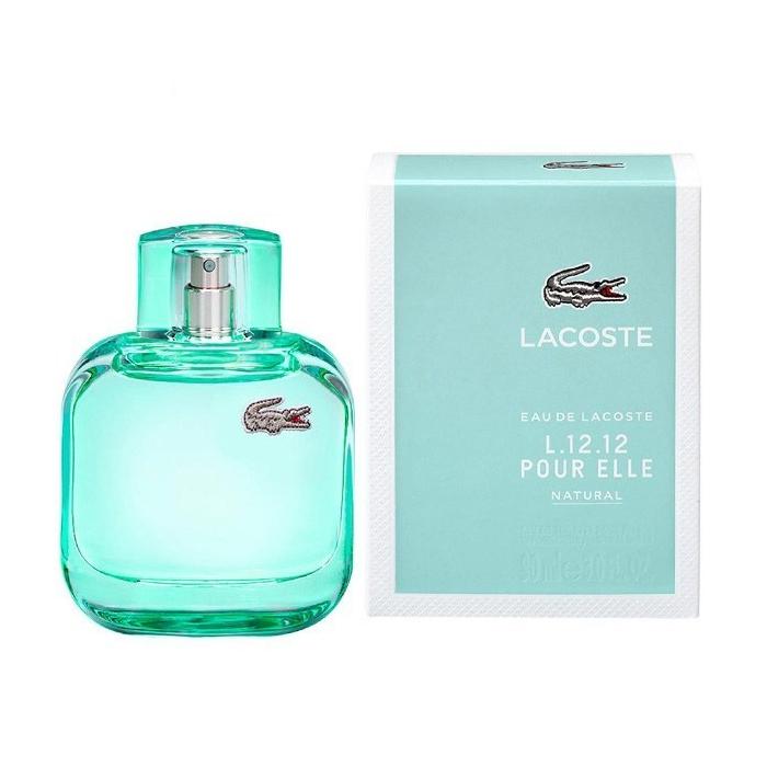 ادو تویلت زنانه لاگوست مدل Eau de Lacoste L.12.12 Pour Elle Natural حجم 90 میلی لیتر