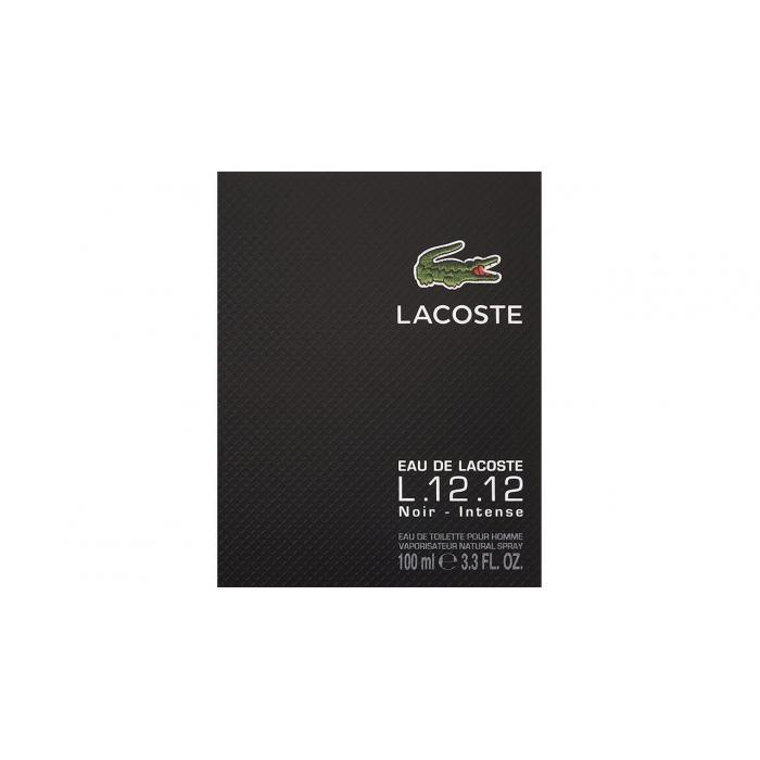 ادو تویلت مردانه لاکاست مدل L.12.12 Noir Intense حجم 100 میلی لیتر