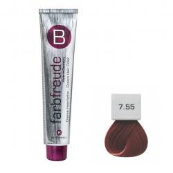 رنگ موی بریول مدل بلوند ماهگونی متوسط شماره 7.55
