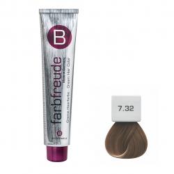 رنگ موی بریول مدل بژ طلائی متوسط شماره 7.32