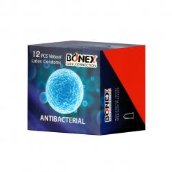 کاندوم بونکس مدل Antibacterial بسته 12 عددی