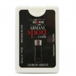 عطر جیبی مردانه سورفین مدل Giorgio Armani Code Sport حجم 20 میلی لیتر