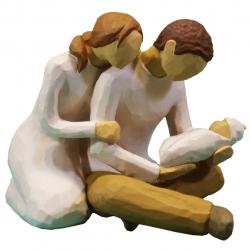 مجسمه امین کامپوزیت مدل زندگی جدید کد 130 (کرم)