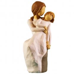 مجسمه امین کامپوزیت مدل مادر و دختر کد 115 (کرم)