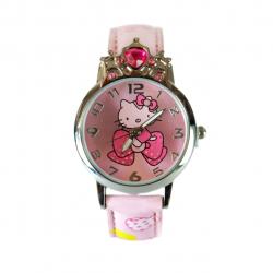 ساعت مچی عقربه ای بچگانه مدل Hello Kitty