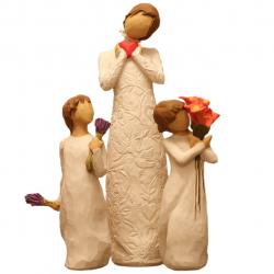 مجسمه امین کامپوزیت مدل Family Grouping کد 501 بسته 3 عددی