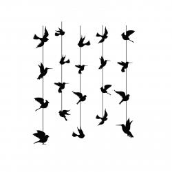 استیکر دیواری سالسو طرح Black Birdy