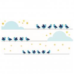 استیکر دیواری سالسو طرح پرندگان رویایی