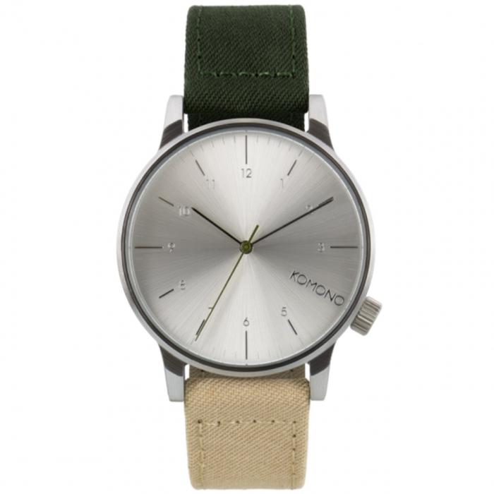 ساعت مچی عقربه ای کومونو مدل Winston Heritage Multitone Green