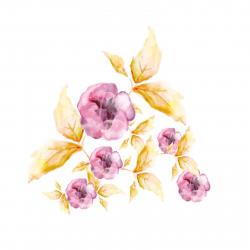 استیکر دیواری سالسو طرح Glass Flower