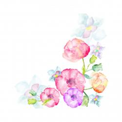 استیکر دیواری سالسو طرح گل آبرنگی