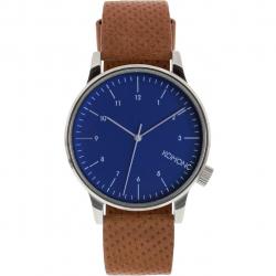 ساعت مچی عقربه ای کومونو مدل Winston-Blue-Cognac